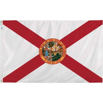 Valley Forge 3 Ft. x 5 Ft. Nylon Florida State Flag