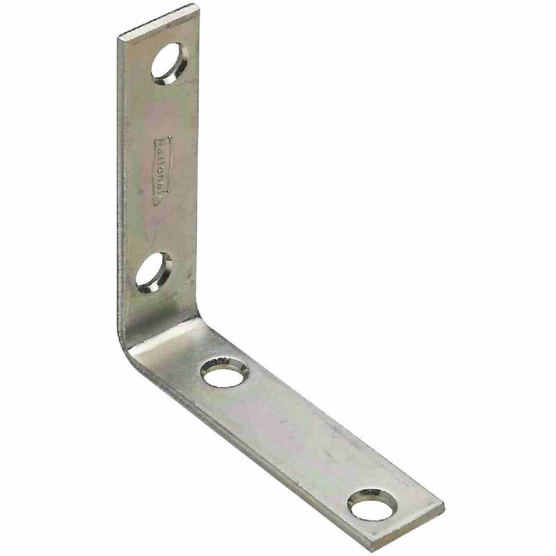 National Catalog V115 2-1/2 In. x 5/8 In. Zinc Steel Corner Brace (4-Count) Image 1