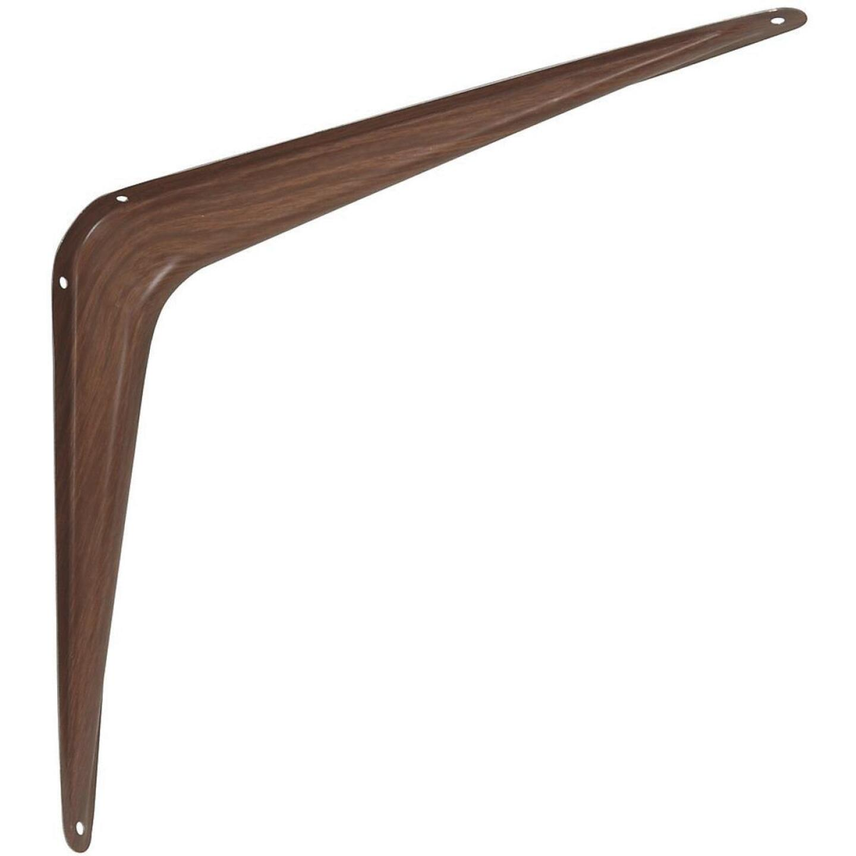 National 211 10 In. D. x 12 In. H. Fruitwood Steel Shelf Bracket Image 1