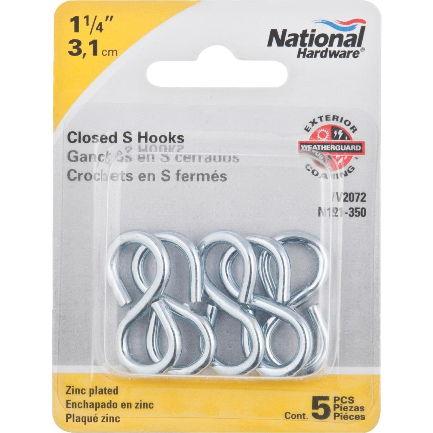 National 1-1/4 In. Zinc Light Closed S Hook (5 Ct.) Image 2