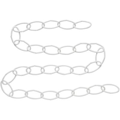 National 36 In. White Metal Hanging Plant Extension Chain