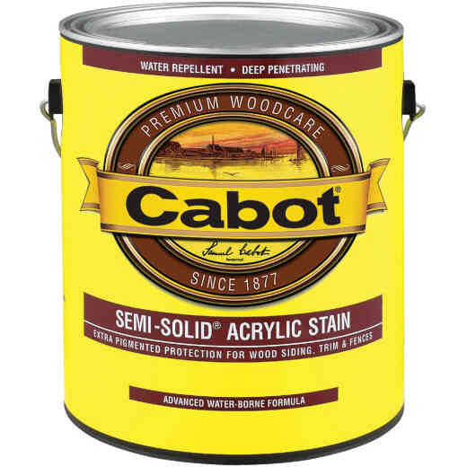 Cabot Semi-Solid Exterior Stain, Neutral Base, 1 Gal.